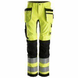 6730 AllroundWork, Women's High-Vis Work Trousers+ Holster Pockets, Class 2